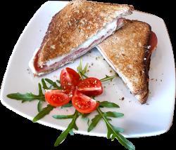 Sandwich toast cu salam