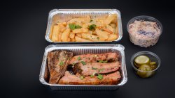 Smoked pork ribs image