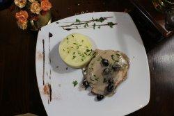 Pollo a la cheff cu piure de cartofi