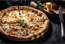 Pizza Pollo e funghi   image