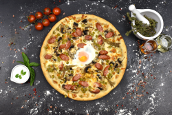Pizza capriciosa + Fuzetea 500 ml