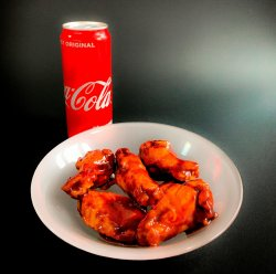 8 x BBQ Wings + Potato Wedges image