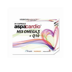 Aspacardio Mix Omega3 + Q10, 30 capsule, Terapia