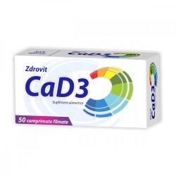 Calciu + D3, 50 comprimate, Zdrovit
