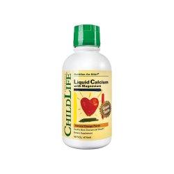 Calcium With Magnesium pentru copii Childlife Essentials, 474ml,..