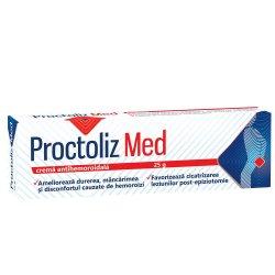 Cremă antihemoroidală Proctoliz Med, 25 g, Look Ahead