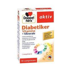 Doppelherz Aktiv Diabetiker Vitamine si Minerale, 30 cpr, Queisser..
