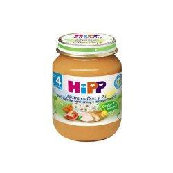 Meniu Bio pui cu orez și legume, +4 luni, 125 g, Hipp