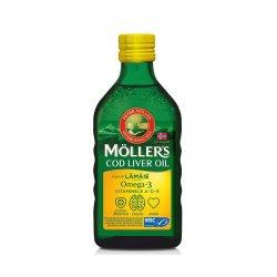 Omega 3 ulei ficat de cod cu aromă de lămâie, 250 ml, Moller`s