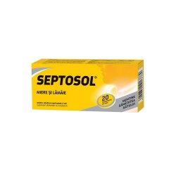 Septosol cu miere și lămâie Herbaflu, 20 comprimate, Biofarm