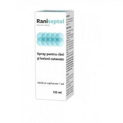 Spray pentru răni și leziuni cutanate, Raniseptol, 125 ml, Zdrovit