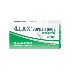 Supozitoare cu glicerina pentru adulti 4Lax, 12 bucati, Solacium..