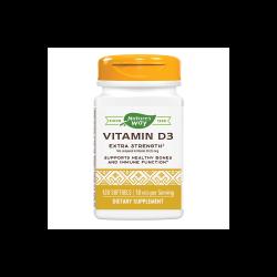 Vitamina D3 2000 UI Nature`s Way, 120 capsule, Secom