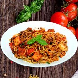 Spaghette cu fructe de mare image