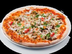 Pizza cu fructe mare image