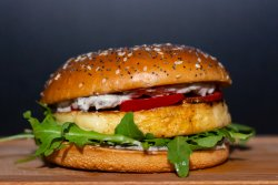 Burger BigDaddy Veggie Mary + Crispy Fries image