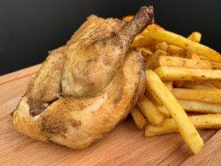 Fried Coquelet cu Sos Garlic + Crispy Fries image