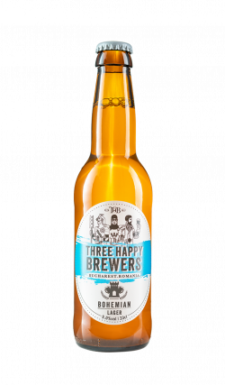 Three Happy Brewers - Bohemian Lager