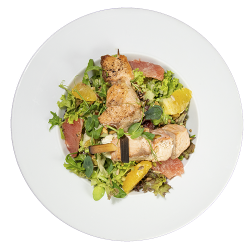 Salată Hambar cu somon/Hambar salad with salmon image