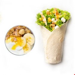 Chicken King wrap (250g) + desert iaurt grecesc (200g) image