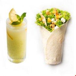 Chicken King Wrap (250g) + limonadă (400 ml) image