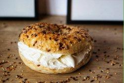 Cream cheese bagel image