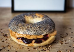 Peanut Butter and Jelly Bagel image
