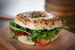 Hummus Bagel image