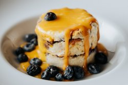 Blueberry bread pudding image