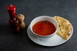 Tomato basil chicken soup image