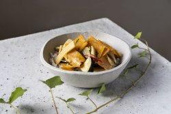 Green curry cu dovleac, bambus și vânătă  image