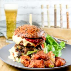 Pepper special double decker burger image