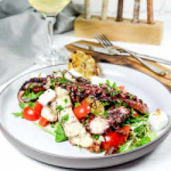 Grill octopus salad  image