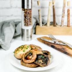 Grilled mushrooms image