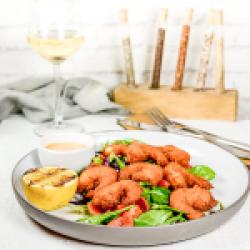 Crispy prawns & chili souce  image