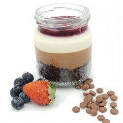 Duo Mousse ciocolată cu fructe de pădure pahar image