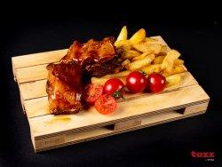 Coaste de porc la cuptor cu cartofi prăjiți image