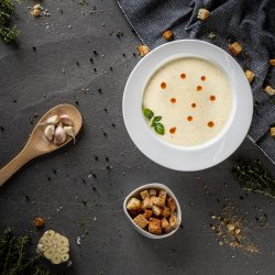 Supă cremă de usturoi copt cu salvie - de post image
