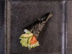 Sake avocado temaki image