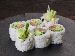 Sake salad maki image