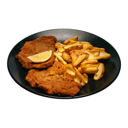 Snitel vienez cu cartofi prajiiti image