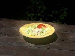 Orez prăjit cu pui și mozzarella  image