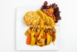 Chicken curry teppanyaki image