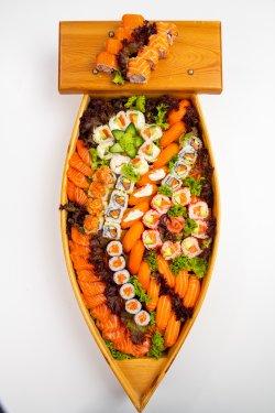 Salmon boat image