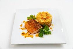 Salmon teppanyaki image