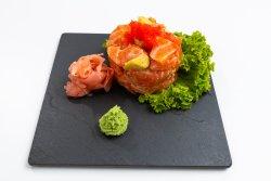 Spicy salmon avocado image