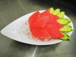 Tuna set of sashimi on ice image