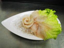 White fish set of sashimi on ice image