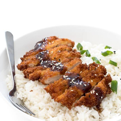 Șnițel pui în panko cu orez basmati și sos tonkatsu image