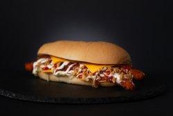 Cheesy smoked sausage image